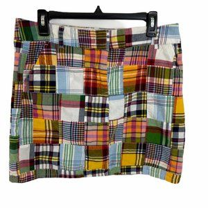 J Crew  Madras Plaid Favorite Fit Skirt 10